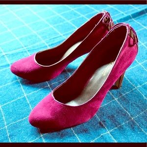 Burgundy Shoedazzle Heels with Bow
